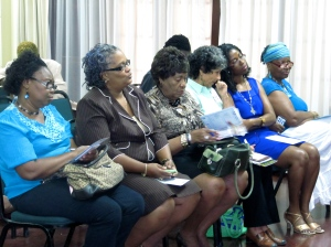 Participants at the launch of the 51% Coalition's media campaign launch on Thursday. And yes, a number of male supporters joined us! It's all about balance... (My photo)