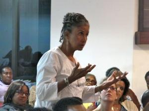 "Judith Wedderburn, Director, Friedrich Ebert Stiftung/Jamaica: ""We need more bredren to participate in gender discussions."""