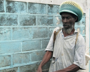 Mr. Ernest Grant, goat farmer in Trinityville. (My photo)