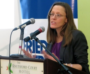 "Dr. Brenda Wyss, Associate Professor, Wheaton College, Massachusetts: ""The neo-liberal market model does not necessarily empower women."""