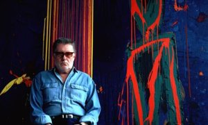 British abstract artist John Hoyland. (Photo: Gary Calton/Guardian UK)