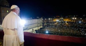 Fairytale tradition: In this photo provided by the Vatican newspaper L'Osservatore Romano, Pope Francis looks at the crowd from the central balcony of St. Peter's Basilica at the Vatican, Wednesday, March 13, 2013. Argentine Cardinal Jorge Mario Bergoglio, who chose the name of Pope Francis, is the 266th pontiff of the Roman Catholic Church. (AP Photo/L'Osservatore Romano, ho)