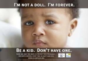 A poster from the DC Campaign to Prevent Teen Pregnancy.