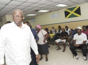 Health Minister Fenton Ferguson touring the Kingston Public Hospital. (Photo: Norman Grindley/Gleaner)