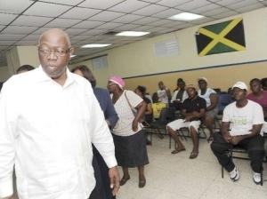Health Minister Fenton Ferguson touring the Kingston Public Hospital. (Photo: Norman Grindley/Gleaner)