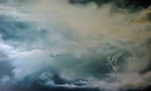 """Storm's End"" by Karen Thompson (oil painting). Image from paintingsilove.com"