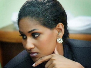 The glamorous Youth and Culture Minister Lisa Hanna   was not amused, today.