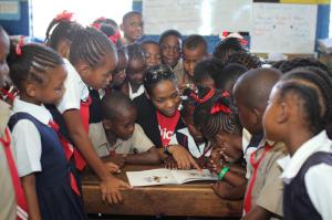 Private sector organizations such as Digicel Jamaica fully support education and programs such as Read Across Jamaica Day. (Photo: Digicel Facebook page)