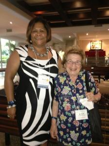 Jamaican Fulbright Scholar Dr. Marcia Forbes with Dr. Ruth Westheimer at the recently concluded Fulbright Conference in Montego Bay. (Photo tweeted by Marcia).