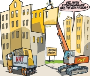 The NHT farce: This was Friday's editorial cartoon in the Jamaica Observer.
