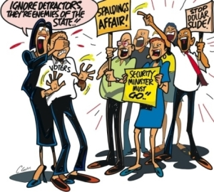 Editorial cartoon, Jamaica Observer: May 5, 2013