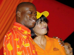 People's National Party Youth Organisation President Alrick Campbell with Prime Minister Portia Simpson Miller at a 2007 party rally. (Photo: Winston Sill/Gleaner)