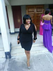 The sophisticated Ms. Hylton at the Jamaica Pegasus Hotel. (Photo: Miss Kitty Facebook page)
