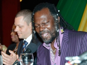 UK-based Jamaican entrepreneur Levi Roots speaks at the diaspora conference in Montego Bay. (Photo: Gleaner)