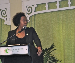 Tech entrepreneur Ingrid Riley at last year's Caribbean Beta conference. (My photo)