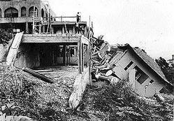 Houses destroyed by Hurricane Gilbert. (Photo: Gleaner)