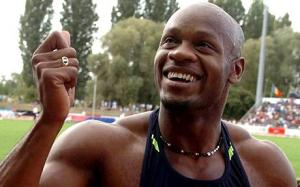 Former world record holder  Asafa Powell will likely not compete in this year's World Athletics Championships, after testing positive for a banned substance. (Photo: EPA/Telegraph UK)