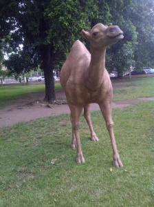 This life-size camel, created by Scheed Cole, has been enjoyed by many at the Devon House watering hole in Kingston. However, it has suffered from vandalization and will now be removed. Shame!
