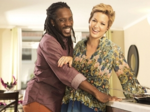 Lovely couple: Singers Wayne Marshall and Tami Chynn now have a baby son.