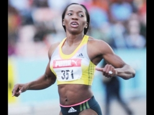 400 meters runner Novlene Williams-Mills had a double mastectomy, but has qualified for the finals in Moscow's World Championships. (Photo: Gleaner)