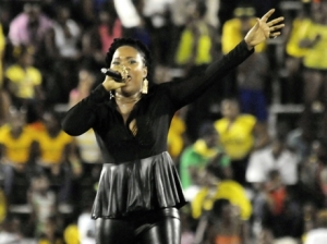 Queen Ifrica performing at yesterday's Independence Day Gala. (Photo: Gladstone Taylor/Gleaner)