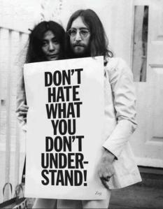 Here is a quote from John Lennon and Yoko Ono. Still so important today of course...