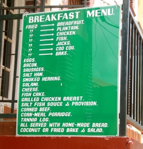 Angie's Restaurant, where I stopped for a cooling drink, has a substantial breakfast menu.
