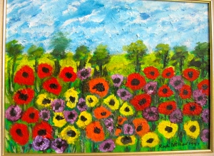 Bless my eyes this morning... Rudi's field of flowers.