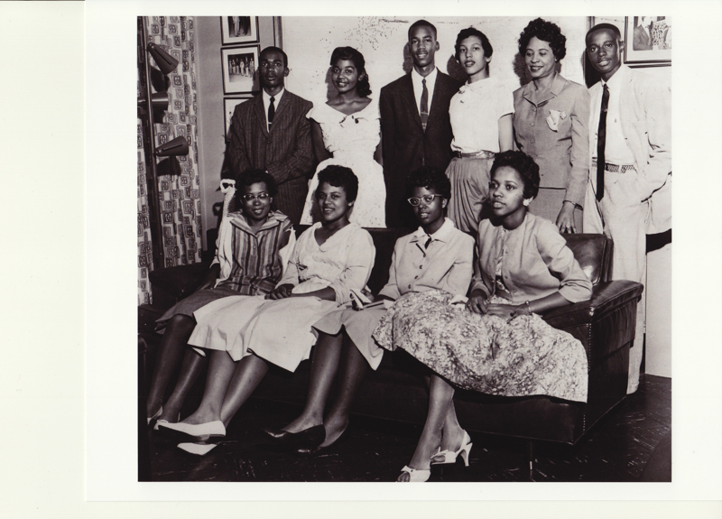 painting of the little rock nine Sylvia walker: 1957 little rock nine artist: sylvia walker 1942 - nationality:  american artwork year: 2005 image size: 12 by 14 inches.