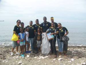 "The wonderful team from Youth Opportunities Unlimited consisted of citizens of Rockfort in East Kingston. ""Big ups"" to them! They worked hard. (Photo: Facebook)"