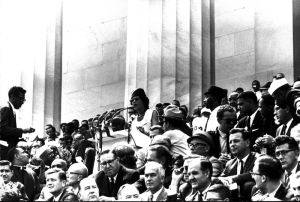 Daisy Bates speaks at the March on Washington. (Photo: California Africam American Museum)