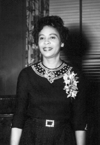 Mrs. Daisy Bates looking marvelous in her corsage. (Photo: University of Arkansas/Excelsior Photographic and Publishing Co., Great Neck, N.Y. Photo by Aldrich)