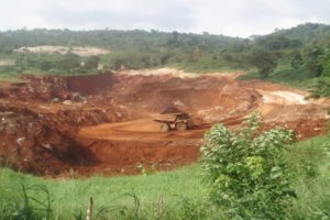 A bauxite mine in Jamaica.