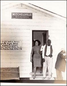 Daisy Bates in Mitchellville.