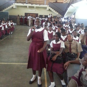 Glenmuir High School, May Pen. (Photo: UNICEF Jamaica Facebook page)