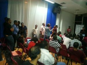The climax of Jamaica Startup Weekend...Intensity building. (Photo: Twitter)