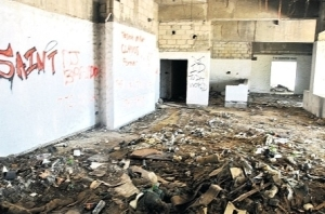 The hotel is a shell and the interior in a dilapidated state. (Photo: Jamaica Observer)
