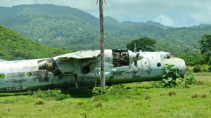 An abandoned Soviet plane at what was once Pearls Airport. (My photo)