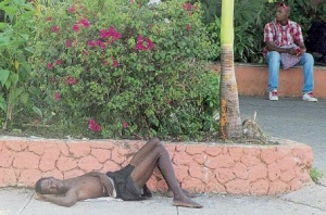 According to today's Sunday Observer, there are over 200 homeless people in the tourist resort of Ocho Rios.