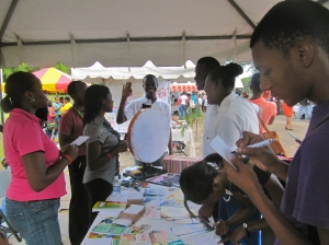 The Jamaica AIDS Support for Life (JASL) tent provided lots of information and assistance. JASL has been doing amazing work since 1991, with branches in Kingston, Montego Bay and Ocho Rios.