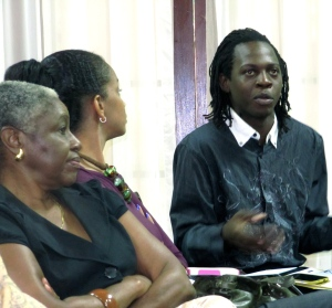 Media specialist Leethan Grandison (right) joins the discussion.
