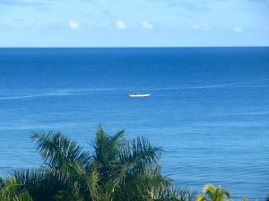 A lonely fishing boat, far away…