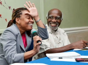 Two very good Jamaican journalists, Dionne Jackson Miller and Claude Robinson take part in a Press Association of Jamaica forum. (Photo: Ian Allen/Gleaner)