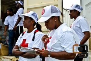 The Red Cross working in Canaries, St. Lucia on Christmas Day. (Photo: St Lucia News/Facebook)