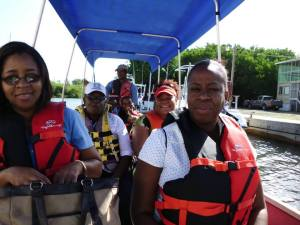 Representatives of the Planning Institute of Jamaica on a tour in the Portland Bight Protected Area, organized by C-CAM.