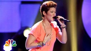 "Oh, and I want a hairstyle - something like…this… Tessanne Chin sings on ""The Voice."""