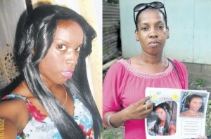 Arlene Robinson, mother of Nordia Fearon, holds a picture of her slain daughter, who went missing with Franciena Johnson on the way to May Pen in Clarendon. Her body was found in Salt River. (Photo: Jamaica Observer)