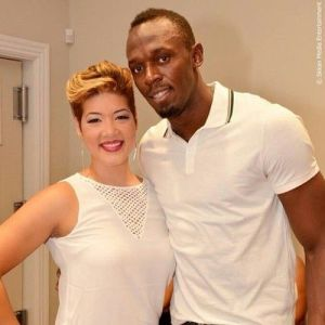 Another lovely Jamaican, track medalist Usain Bolt, visited Tessanne during the competition. Another person who has achieved so much and is still humble - and just himself.