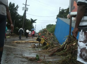 Damage in Castle Comfort, Dominica. (Photo: Dominica News Online)