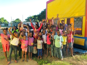 The children at Trench Town Reading Centre at their 20th anniversary party in December. (My photo)